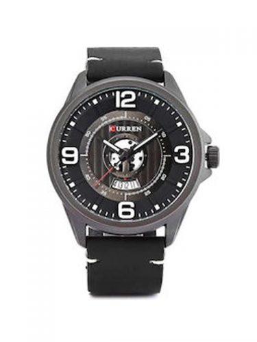 Ανδρικό ρολόι Curren με μαύρο δερμάτινο λουράκι